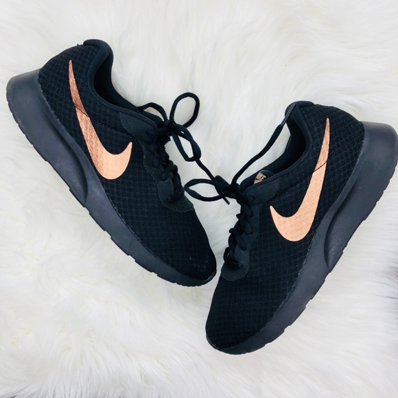 Black Nike Shoes With Gold Swoosh